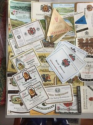 Wine labels, Germany, Mixed lot of 48 labels from the 60s