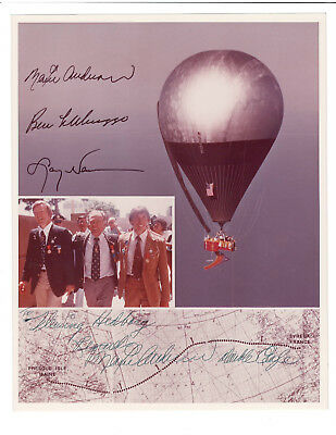 Maxie Anderson Signed Photo / Balloonist Double Eagle / Autographed