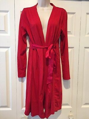 Stylish Maternity Bump In The Night Red Robe Size Medium
