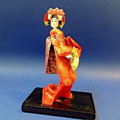 Mini Japanese Geisha Stocking Doll - 14cm Tall Ornament Figurine