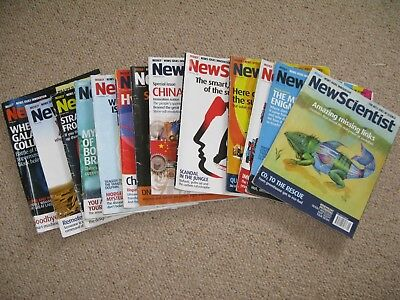 13 x New Scientist magazines bundle Issues from 2007/2008
