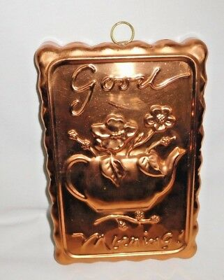 "O.D.I Rectangular Copper Mold ""Good Morning"" Tin Lined"