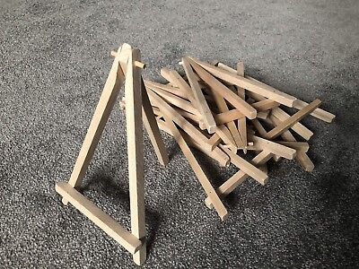 10 Mini Wooden Artist Easels For Wedding, Artwork Display, Table Settings, Craft