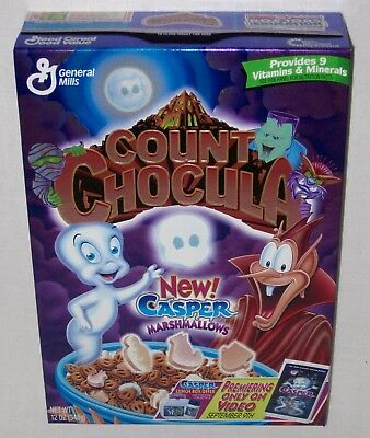 Count Chocula Casper & The Friendly Ghost Cereal Box Sealed Rare Foil Art 1997