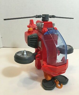 Fisher-Price Hero World Rescue Heroes Hal E. Copter Red Helicopter 2010