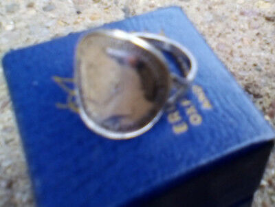 STERLING SILVER GEORGE V 1919 THREEPENCE COIN RING or 3d thrupenny thrupney bit