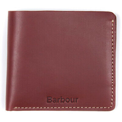 Barbour Round Hip Flask In A Removable Brown Leather Cover In A Gift Box