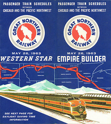 RAILROAD TIMETABLE Great Northern Railway Empire Builder