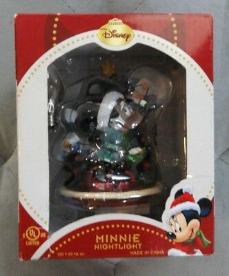 NEW - Disney Minnie Mouse Nightlight  with Christmas Tree