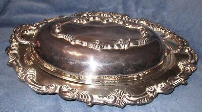 Vintage Ornate Silverplate Covered Chaffing/Serving Dish