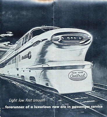 New York Central Aerotrain Phamplet