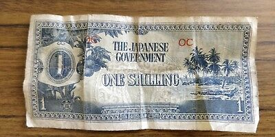 Japanese Government One Shilling Note Fine+