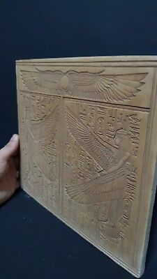 RARE ANCIENT EGYPTIAN EGYPT ANTIQUES ISIS Stela Relif ISIS Tomb Egypt Stone BC