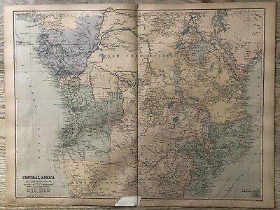1894 Central Africa Map From Stanford'S London Atlas Of Universal Geography