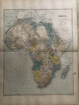 1894 Africa Map From Stanford'S London Atlas Of Universal Geography