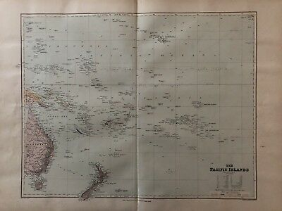1894 Pacific Ocean Map Stanford'S London Folio Atlas Of Universal Geography