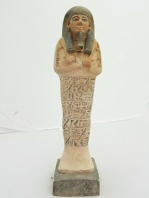 ANCIENT EGYPTIAN ANTIQUES XLarge USHABTI (SHABTI) With Hieroglyphics EGYPT BC