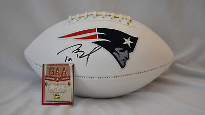 TOM BRADY HAND  SIGNED NFL Official Wilson Team Logo Football w/  COA