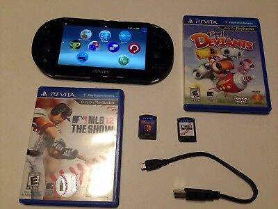 Sony PS Vita Slim PCH-2001 With Charger Firmware 3.69 PlayStation Vita 2 Games