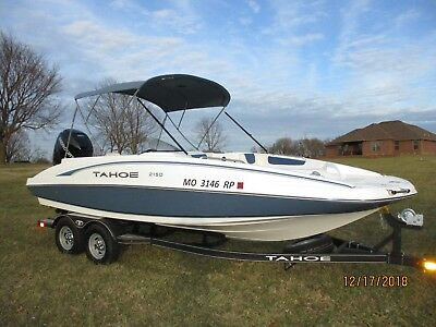 2017 Tahoe 2150 Deck Boat W/ 200Hp Mercury, Trailer And Cover****obo****