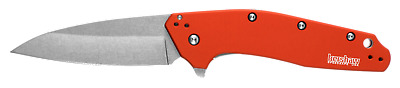 Kershaw Dividend Orange Flipper Assisted Opening Knife USA MADE 1812OR