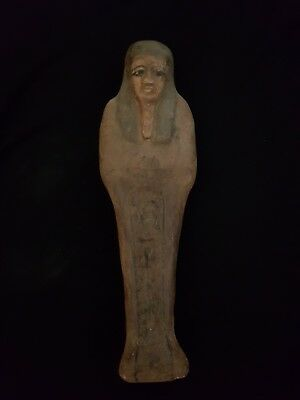 Rare Ancient Egyptian Antiques Large Wooden Ushabti (Shabti) Egypt ANTIQUES BC