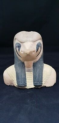 ANCIENT EGYPTIAN ANTIQUES EGYPT STATUE Of GOD HORUS EGYPT Rare STONE EGYPT BC
