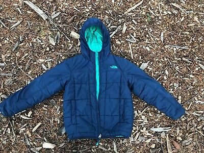 The North Face Boys Kids Youth Reversible Jacket Navy Size 10-12 puffy