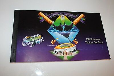 Tampa Bay Devil Rays 1998 Inaugural season ticket booklet