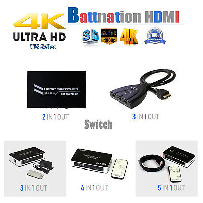 HDMI Switch Multi-function 2.0 4kx2k@60hz 2x1 3x1 4x1 5x1 2in/3in/4in/5in-1out