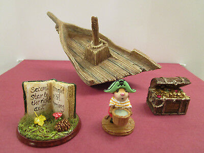 Wee Forest Folk Spec. SMEE and MARQUEE (PETER PAN) plus Sunken Ship and Treasure