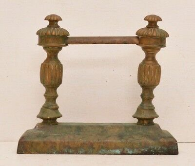 Antique Victorian Brass Fireplace Tool Rest Firedog Door Stop Boot Scrape French