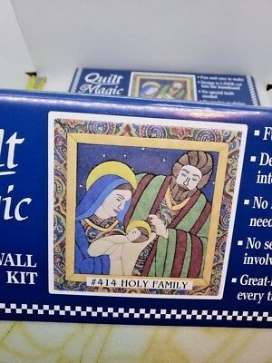 SET OF 2! Quilt Magic HOLY FAMILY #414 NO Sew Wall Hanging Craft Kits Nativity