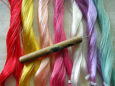 PRO HAIR ROOTING TOOL 4 My Little Pony I + 1 skein Saran and 1 extra needle