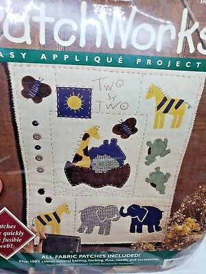 Bucilla TWO BY TWO Patchworks Applique Project Noah's Ark Craft Kit Religious
