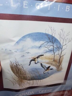 Cathy Needlecraft CANADA GEESE Birds Collectibles Crewel Embroidery Craft Kit