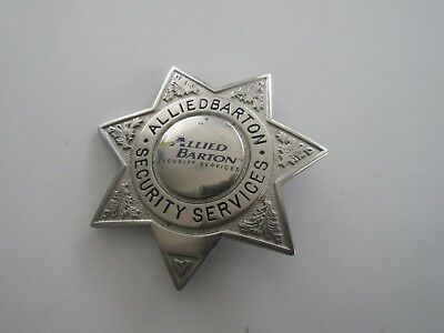 Vintage Allied Barton Security Services Badge