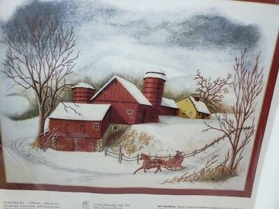 Cathy Needlecraft SLEIGH RIDE Winter Embroidery Collectibles Craft LARGE Kit NEW