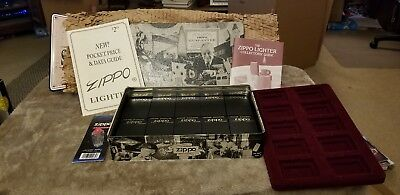 Zippo Collectibles: Tin , 10 Display Boxes , Info Booklets, Flints