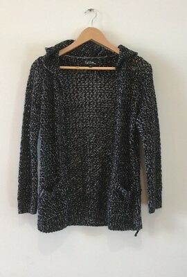 Child size 10 black knit hooded cardigan, Future You from Target