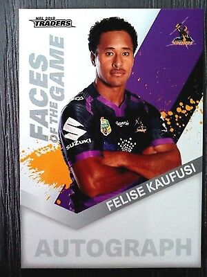 2018 Nrl Traders 'faces Of The Game' Trading Card - Felise Kaufusi/storm