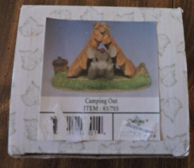 """Charming Tails """"camping Out"""" By Fitz And Floyd. #83/703.  Original Box.."""