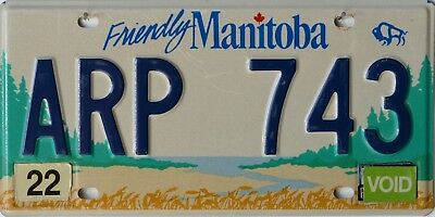 USA Number Licence Plate CANADA MANITOBA