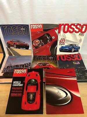 Lot of 8 Ferrari Rosso Official Magazine 2000's Large Graphics Free Shipping