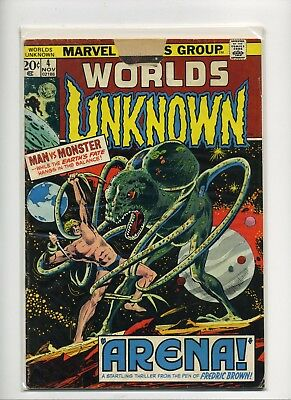 Worlds Unknown #4  VG 1973 Marvel Comic