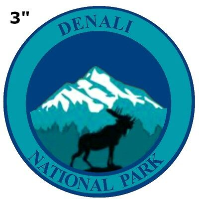DENALI National Park Patch Souvenir Travel Embroidered Iron / Sew-on