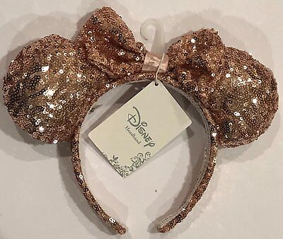 Rose Gold Glitter Ears Disney Headband Store Exclusive FREE SHPPING DisneyLand
