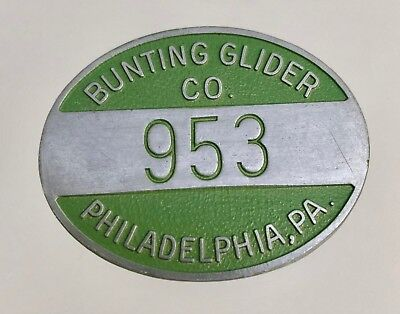 Vintage c1940s Bunting Glider Porch Patio Factory Employee Badge Phila PA