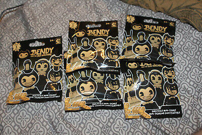 Bendy and the Ink Machine Construction Mini Figure Blind Bag - Lot Of 6
