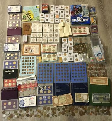 Junk Drawer Bonanza Coin Collection of SILVER, Sets, & More! Old Coins!